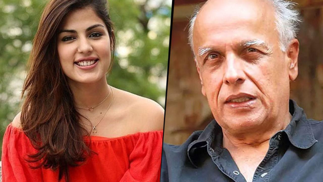 Rhea Chakraborty and Mahesh Bhatt ...