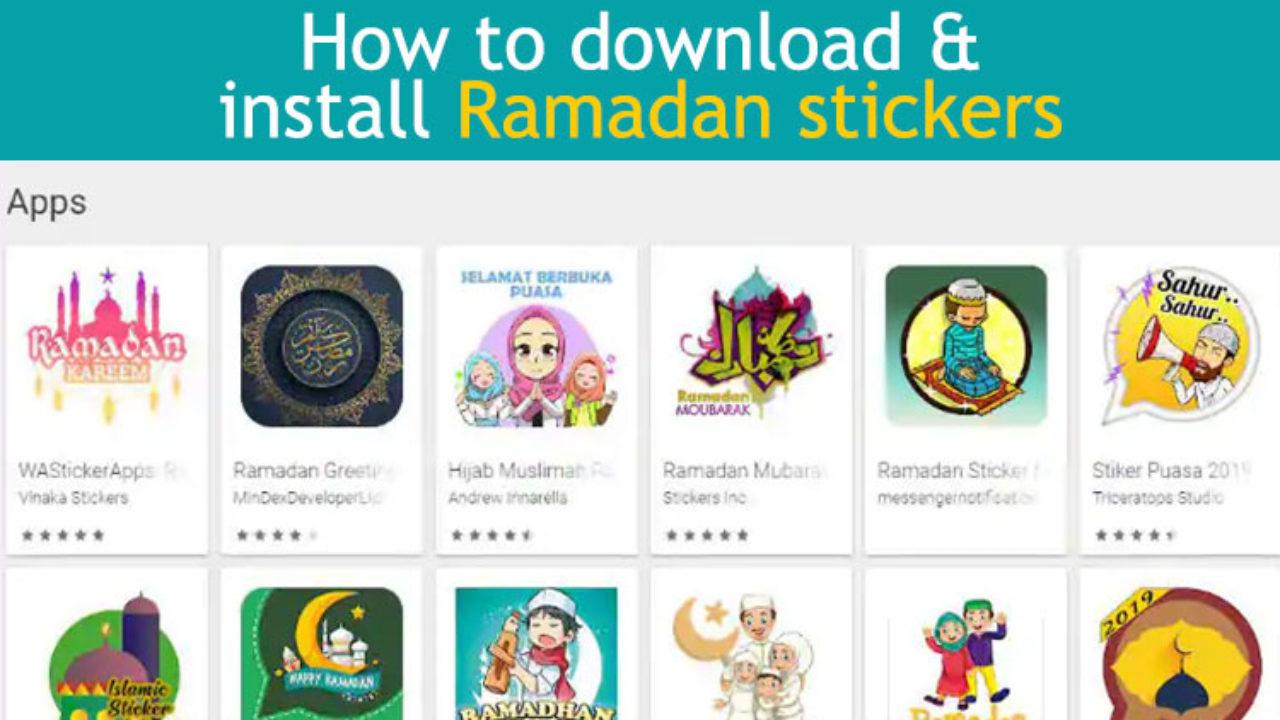 Ramadan WhatsApp Stickers: How To Download & Install Ramzan